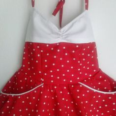 Teen Beach Movie Lela Fully lined White Polka by HandmadebyCatira, $59.99