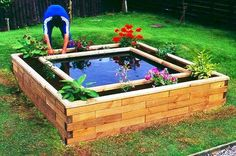 Creative garden ponds, fountains home: raised pond