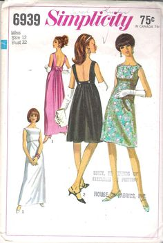Simplicity 6939 Vintage 1960's Juniors' and by ComeSeeComeSew, $25.00