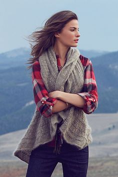 Ruffled sweater vest