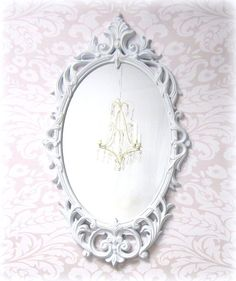 HOLLYWOOD REGENCY MIRRORS For Sale White Baroque by RevivedVintage, $156.00