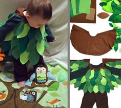Go out on a limb with your creativity and create this tree costume for your little one!