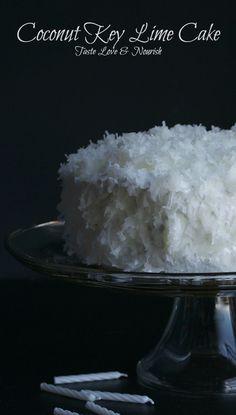Coconut Key Lime Cake - this lightened up cake is delicious!   www.tasteloveandnourish.com   #cake #coconut #keylime #dessert