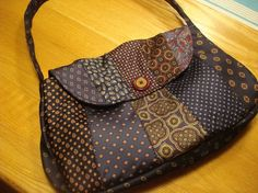 upcycled necktie purse