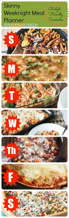 Skinny Weeknight Meal Planner: 7 Budget-Friendly Casserole Recipes