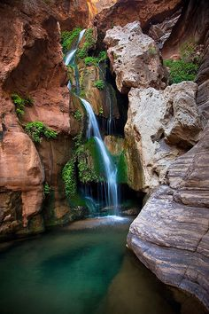 Elves Chasm, an extraordinary spot, deep inside the Grand Canyon, only accessible from the river.  You can dive from platforms into the pools.
