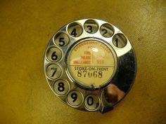 Chrome dial on a Bakelite Telephone