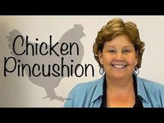 ▶ The Chicken Pin Cushion- A Fun Craft with Quilt Fabric! - YouTube