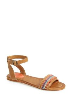 Liking the woven leather straps on this Frye sandal.