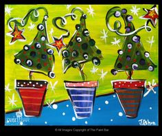 Holiday Trees Painting - Jackie Schon, The Paint Bar