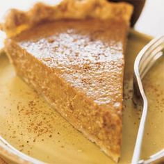 Soy Milk Pumpkin Pie | MyRecipes.com