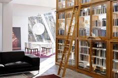 Those bookcases.