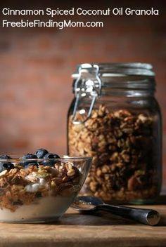 ... granola, coconuts, breakfast, coconut oil granola recipe, cinnamon