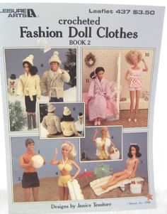 Crochet Barbie Clothes Vintage Book by EmSewCrazy on Etsy