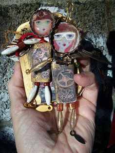 ArteDolls Steampunk art dolls for tin by ArteDar, via Flickr