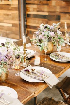 love the gold and rustic touches