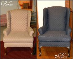 I'm SO doing this on a fabric chair I have!   Furniture Ideas, Photos and Answers :: Hometalk