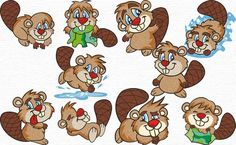 Free Embroidery Designs, Sweet Embroidery Beavers!