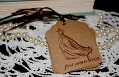 Bridal Shower Wedding Gift Tags  Wedding Gown  by Booksonblocks, $3.95