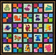 Cute Baby Quilt - with Bright Colors