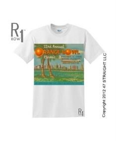 1956 Orange Bowl Oklahoma football ticket tee by ROW 1.™ Bud Wilkinson's Sooners won the 1956 National Title. http://www.shop.47straightposters.com/ROW-1-Vintage-Tees_c16.htm
