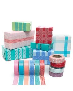 Washi Tape Wrapping... love this!