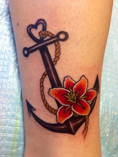 Best friend & navy wife anchor tattoo