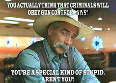 Criminals, by definition, do not obey laws.