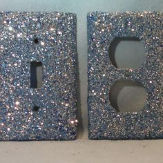 Glitter on outlet covers. cute.