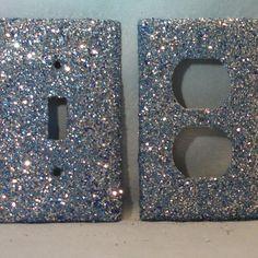 glitter light switch plate
