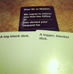 card Cards Against Humanity Brings You a replacement Game concerning nookie Your Friends