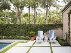 darling blue and white outdoor cushions // patios and pools
