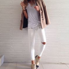 white jeans & Chanel