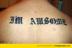 Awsome spelling tattoo