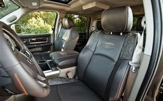 This will be my next vehicle!!!Interior of the Dodge Ram Longhorn Laramie #obsessedwiththeseats