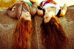 Every redhead needs a brunette best friend