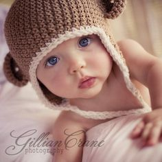 Baby Hats Hats with Ears Crochet Baby Hats Unisex by citefuzzhats, $27.20