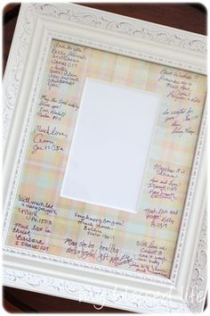 Guest book for a baby shower