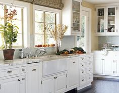 Love this apron front farmhouse sink