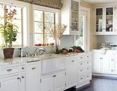 kitchen white kitchen cabinets, windows, farmhouse sinks, subway tiles, light, farm sinks, white cabinets, kitchen designs, white kitchens
