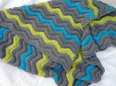 RESERVED+Wavy+boy's+crochet+blanket+by+CrochetByJamie+on+Etsy
