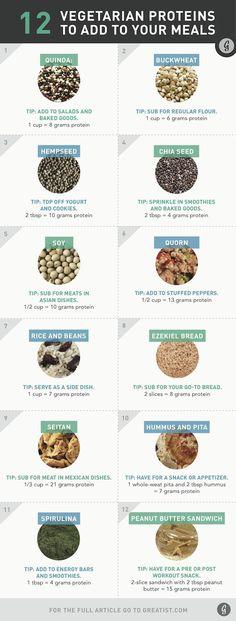 12 vegetarian protei