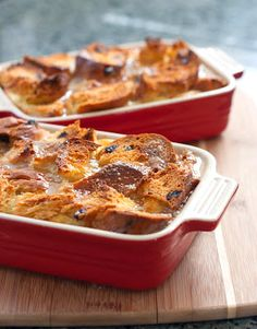 Rustic Bread Pudding with Spiced Rum Sauce