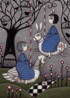 Merry-go-round Art Print by Judith Clay | Society6