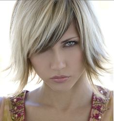 Colour? Blonde Hair with Chocolate Low Lights and blonde bob with bangs