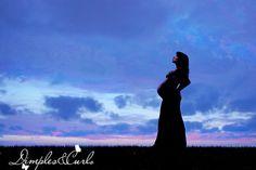 great silouhette maternity shot