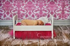 DIY doll bed / photo prop
