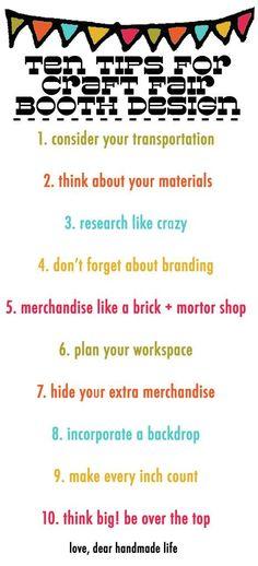 ten tips for craft fair booth design - dear handmade life
