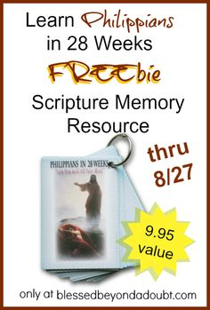 Last day to get the FREE Philippians Scripture Memory Cards! Hurry! Offer good thru 8/27!