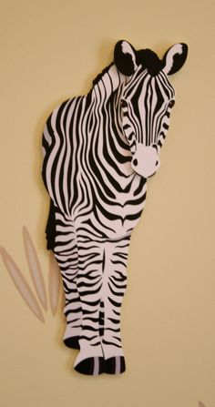 Zebra Wall Decoration for Children's Rooms by WallPoppers on Etsy, $10.00